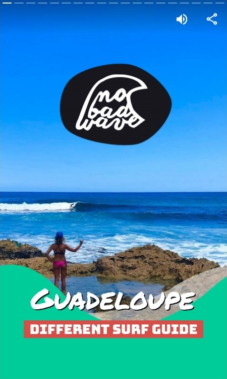 Guadeloupe surf guide cover
